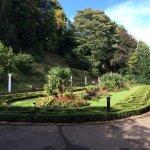 In the gardens near the tearoom