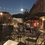 Outdoor entertainment and lovely night to dine outdoors