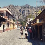 Scenic View of El Tepozteco, from the streets of Tepoztlan