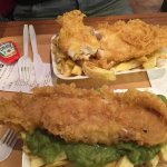 Haddock and chips one with peas!