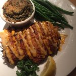 Sweet Potato Encrusted Fish with Spinach side dish