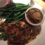 Chilean Sea Bass Picatta with Spinach side dish