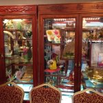 Display cabinet in entranceway