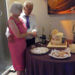My lovely in laws cutting their cake at Bellini's.