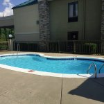 Outdoor pool and grilling area