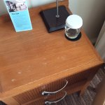 Chipped/marked bedside tables, room 371