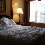 1st floor master bedroom with queen bed in 3br unit
