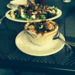 Lake house salad and French onion soup