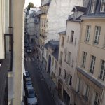 View from the 4th floor down the Rue de Seine