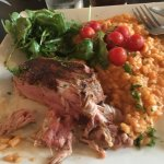 Lamb tenderloin, tomato risotto and arugul