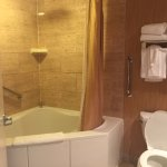Gorgeous bathroom with jetted tub and rain shower head