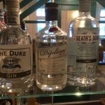Huge selection of special gins in the bar