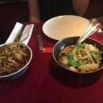 Calamars aux légumes et nouilles sautées