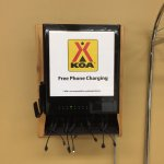 Free phone charging in the 24 hr laundry