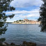 The view of Rovinj from the island