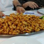 Porção grande de camarão