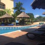 Sector de piscinas, playa, anfiteatro y una sorpresita para el cumpleaños