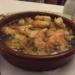 Lovely and bubbling hot, you have to have the prawn pil pil