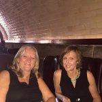 Enjoying drinks in tunnel bar
