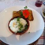 Eggs Provencal for breakfast