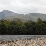 View from riverbank at Lochy Park