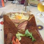 Bacon Egg Cheese crepe