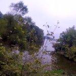 The final zipline goes just past the Eagle Creek reservoir.