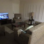 Living area in suite 440