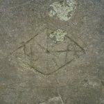 Medieval (?) graffito in the Cloisters.