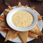 Artichoke dip appetiser. Excellent!