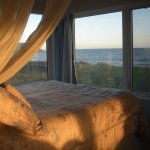 Bed with a view of the ocean