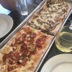 Half prosciutto and half portobello