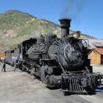 """""""All aboard"""" Just before leaving Silverton."""
