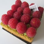 My favorite Raspberry, Pistacchio cream short bread crust flan - Yuuuuummm!!