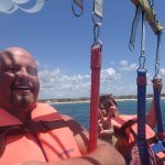 Parasailing from the beach