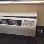 112 degrees outside and this is the AC this hotel has. This was in the hallway. No central AC.