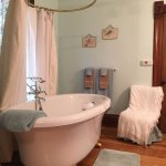 The Stone Room bath air jetted whirlpool tub (Stone-Yancey House Bed & Breakfast)