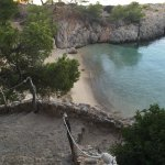 The little beach just below our villa.