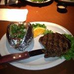 steak and baked potato