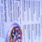 menu wood fired pizzas