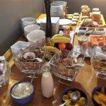 Complimentary & fabulous breakfast spread