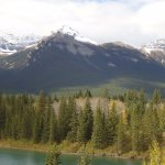 bend in Bow river-- mountains to southwest of lookout