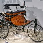 'Motorwagen'. The first car on road. Benz of course.