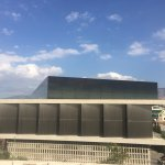 View of new Acropolis Museum from rooftop bar