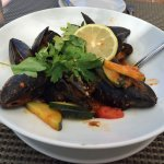 mussels - they were filled with delicious tomato sauce which seems hidden here!