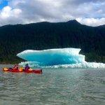 kayaking by an iceberg, like ya do.