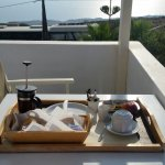 Private balcony for continental breakfast that was delivered to my room each day