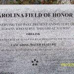 Carolina Field of Honor plaque
