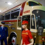 Buses traveled the USA offering the same services as the airlines.