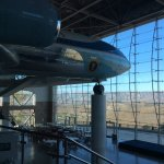 Hangar housing Air Force One and view of surrounding countryside.